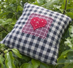 Small Gingham heart cushion