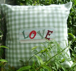Green gingham with love