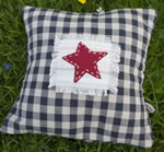 Small Gingham Star cushion