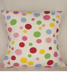 Multi-colour spot cushion
