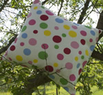 New Bubbles fabric cushion