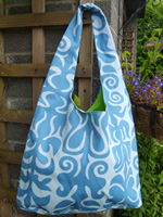 Blue scroll bag