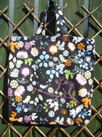 Black Print Shopping Bag